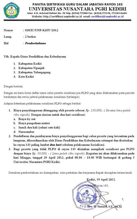 Jadwal Try out PLPG UNP Kediri