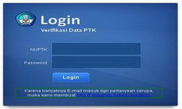 setelah masuk halaman utama terdapat login box seperti gambar diatas