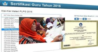 Kisi-Kisi Materi PLPG Sertifikasi Guru 2016 Semua Mata Pelajaran Lengkap