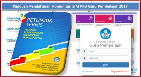 Panduan Pendaftaran Komunitas SIM PKB Guru Pembelajar 2017 aan88.NET